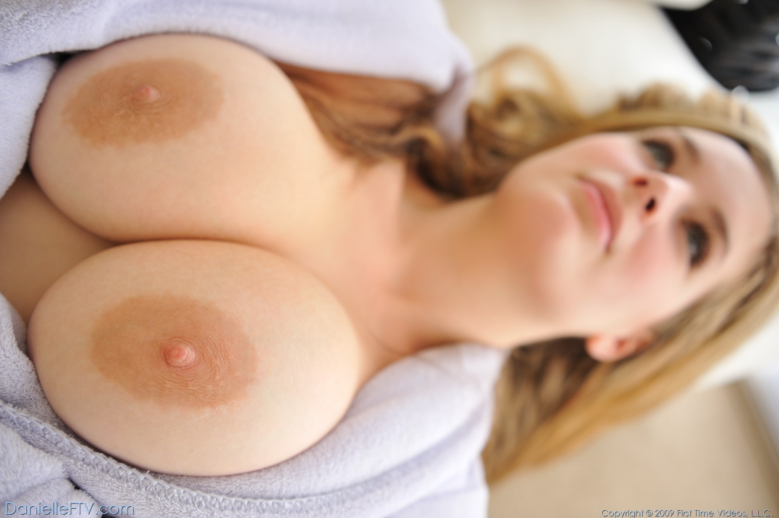 Busty Danielle With Nipples Clamps